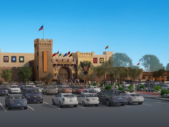 A rendering of the Medieval Times Dinner & Tournament