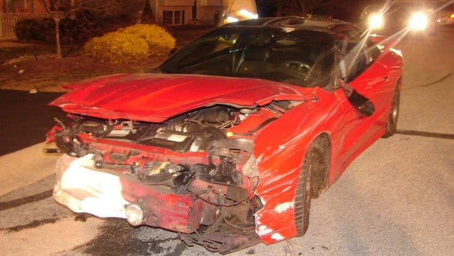 A 1995 Pontiac Trans-Am that was extensively damaged after its driver lost control, left the roadway and crashed into a residence at 1 Lynch Drive, Cornwall, early Saturday morning, according to police.