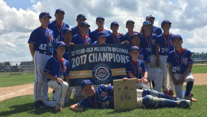 The Waite Park Babe Ruth Baseball 12-and-Under team won the Central Plains Regional in Bemidji to qualify for the world series in Branson, Missouri.