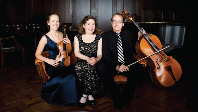 Violinist Margot Schwartz, pianist Stefanie Jacob and cellist Scott Tisdel comprise the Prometheus Trio.