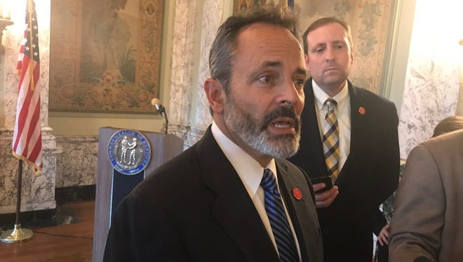 Gov. Matt Bevin took questions from the capital press corps on Wednesday.