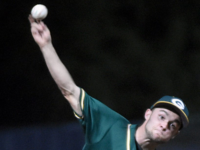 Gallatin High senior Billy Campbell tossed 4 and 2/3 innings in relief to earn the pitching victory in Monday evening's 7-6 victory over Wilson Central.