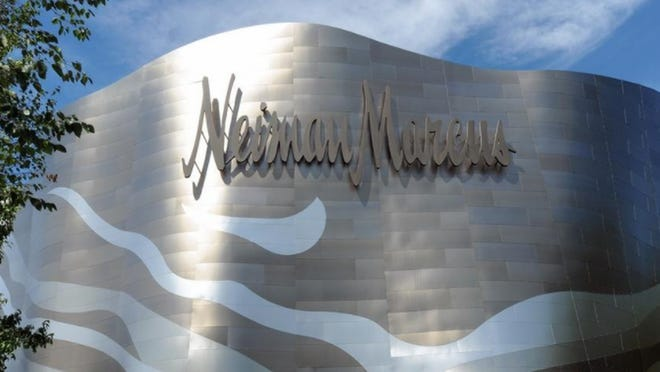 "The Neiman Marcus ""wave"" storefront at the Natick Mall."