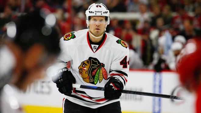 Kimmo Timonen has played nine games for Chicago since the trade.