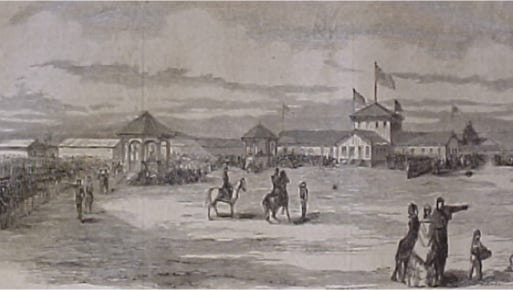 Camp Scott in York, from New York Illustrated news, May 25, 1861.