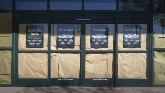 Many stores have closed and now sit vacant at Fiesta Mall in Mesa, shown on Jan. 5, 2017.