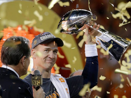 Peyton Manning won his second Super Bowl with the Denver Broncos.