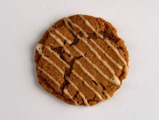Orange drizzle molasses cookie.