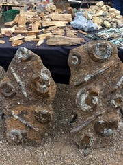 Fossilized rocks can bring top dollar for vendors at