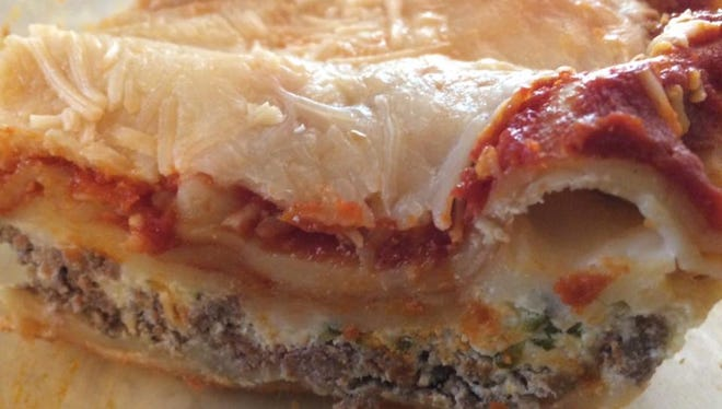 Lasagna made by Moia Meals.
