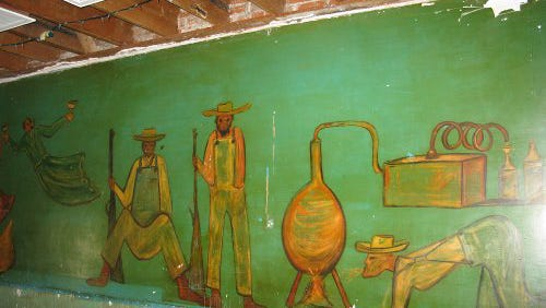 """A 47-foot mural painted by Ettore """"Ted"""" DeGrazia in the 1940s to pay off a bar tab at a Phoenix lounge, was lost in demolition of the GreenHAUS Gallery."""