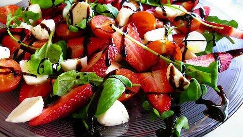 A strawberry balsamic salad.