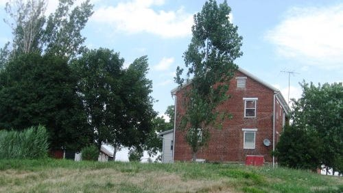 During the Civil War, this was the Henry Witmer farmhouse about three-and-a-half miles northeast of Gettysburg. On Friday, June 26, 1863, several members of the 26th Pennsylvania Volunteer Militia fired from these western-facing windows at the oncoming 17th Virginia Cavalry during a skirmish at the Witmer farm.