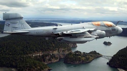 A Grumman EA-6B Prowler