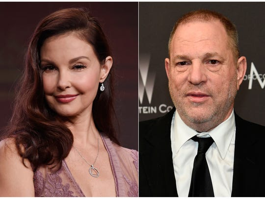 Ashley Judd (left) and Harvey Weinstein (right).