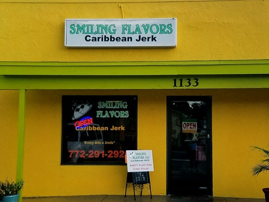 The outside of  Smiling Flavors Caribbean Jerk at 1133