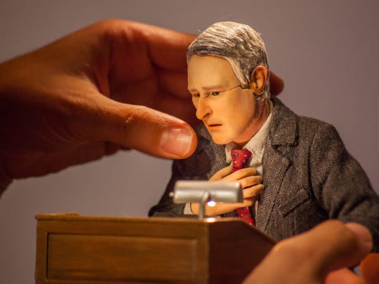 "This photo provided by Paramount Pictures shows a puppet on the set of the animated stop-motion film, ""Anomalisa."""