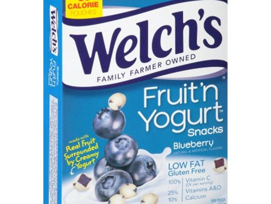 These fruit snacks also contain yogurt and make for