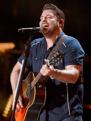 Chris Young performs at the 2016 CMA Music Festival on Saturday night at Nissan Stadium in Nashville, Tenn. L