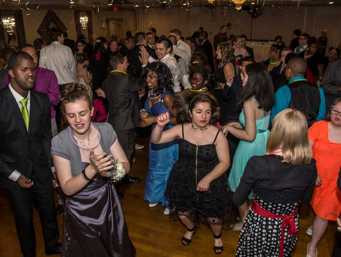 Students dance at the ECLC of New Jersey Chatham School's Prom at The Hanover Manor in East Hanover, May 30, 2014.  Photo by Warren Westura for the Daily Record.