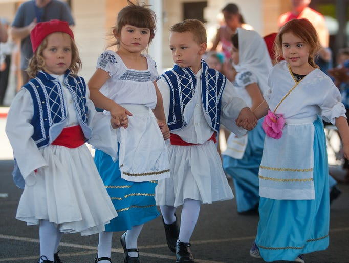 Mika Pedakin performs traditional Greek dances from Greece on May 4, 2014.