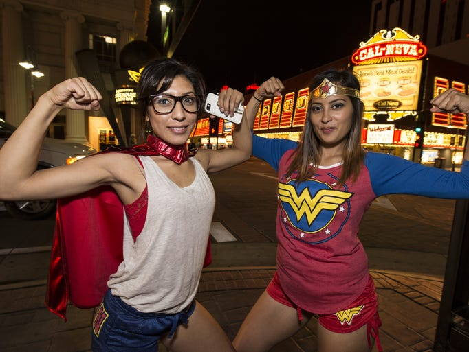 People gathered in costumes to drink and be merry at Reno's Superhero Bar Crawl on Saturday.