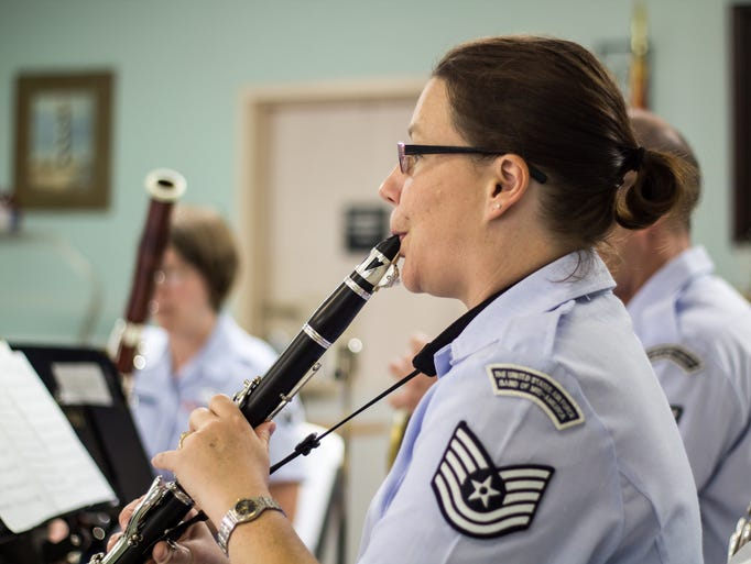 Kim Miller played clarinet with the United States Air Force Band of Mid-America's Freedom Winds at the Tennessee State Veterans Home