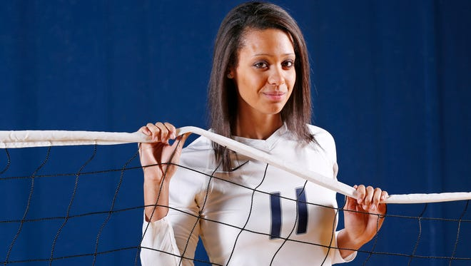 Central Catholic's Kiana Fields is the 2015 Journal & Courier Small School Player of the Year for volleyball.