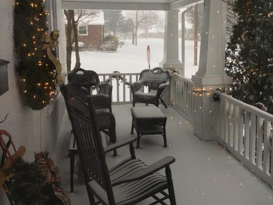 Lisa Meddick submittted a photo of her snow-covered