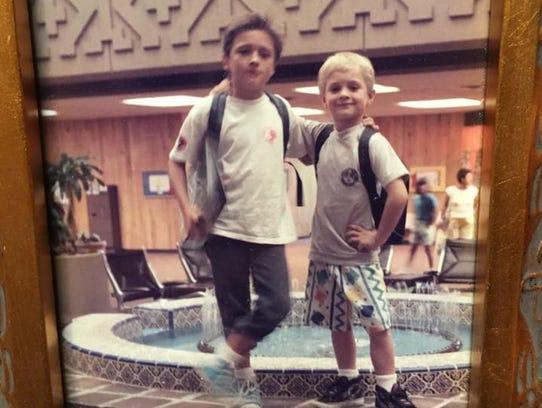 Paul and JJ Horner as children.