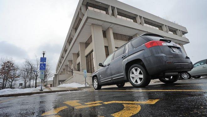 Fond du Lac City County Government Center parking lot shot