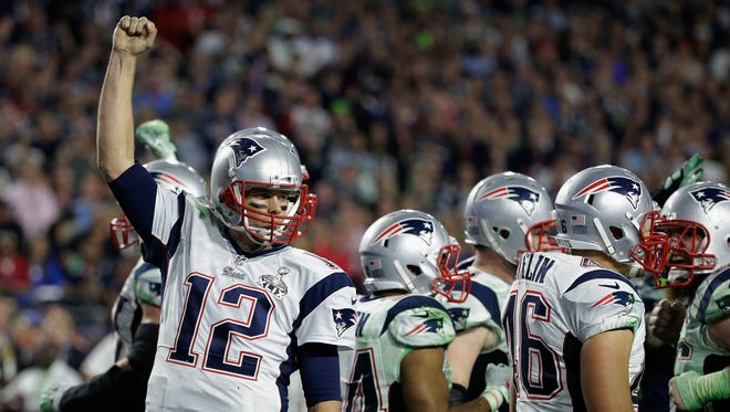 The New England Patriots at Super Bowl XLIX in Glendale, Ariz., in 2015.