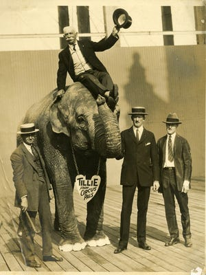 Tillie the elephant was the most famous of many exotic animals from John Robinson's Circus that spent their winters in Terrace Park.