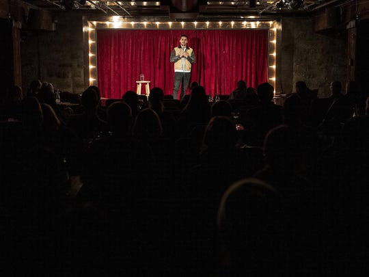 Moe Yaqub performs Nov. 11, 2019 at the Acme Comedy club in Minneapolis, Minn.