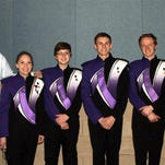 Pictured, from left, are: Daryl Balseiro, band director; Michele Arnold, flute; Gracie Shortridge, percussion; Ian Parzyszek, saxophone; Josiah Stetler, trumpet; and Ethan Spencer, trombone.