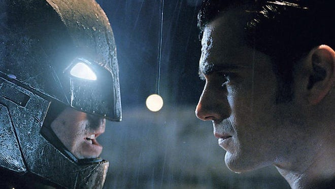 "Ben Affleck stars as Batman, who has no super powers, and Henry Cavill portrays super-powered Superman in ""Batman v Superman: Dawn of Justice."""