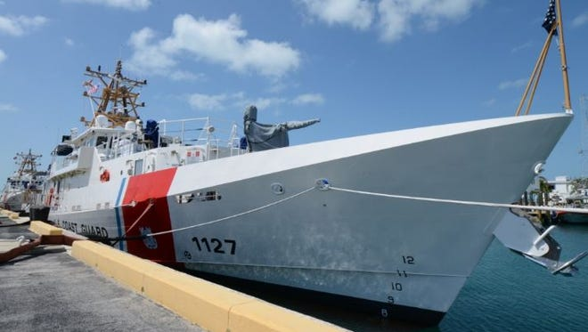 """The newest Coast Guard Cutter, named after former Clyde resident Richard """"Dick"""" Snyder, makes ports in Key West, Florida. A dedication ceremony was held Friday in Atlantic Beach, North Carolina, where it will be stationed."""