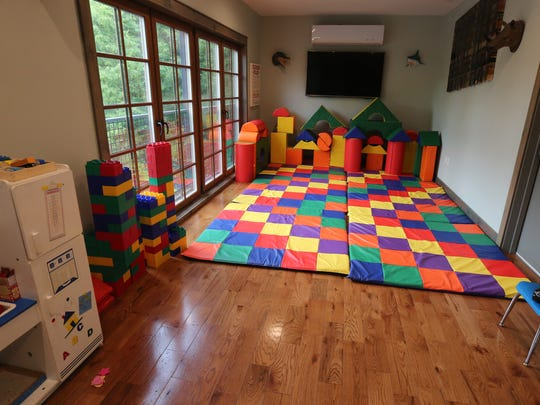 A children's play area is featured on the second floor of Frida's Bakery and Cafe on Main Street in Milton.