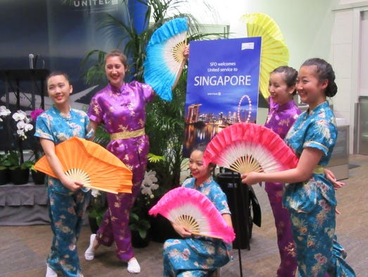 A special Asian-inspired dance was performed in the