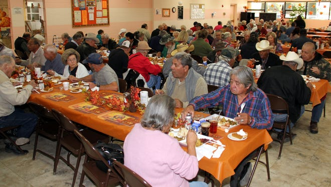 Over 500 senior citizens were treated to a Thanksgiving feast on Tuesday at the Deming Senior Center.