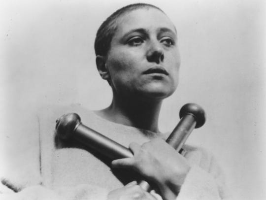"Renée Jeanne Falconetti in ""The Passion of  Joan of"
