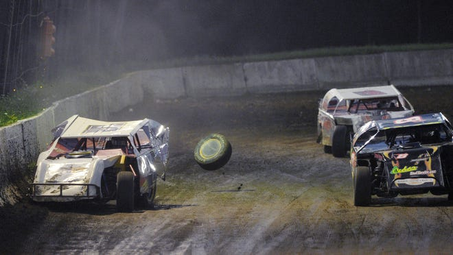 An E-Mod heat race takes place at Eriez Speedway in Greene Township on Sept. 4, 2016. The track is set to open Sunday after the state provided safety guidance Wednesday.