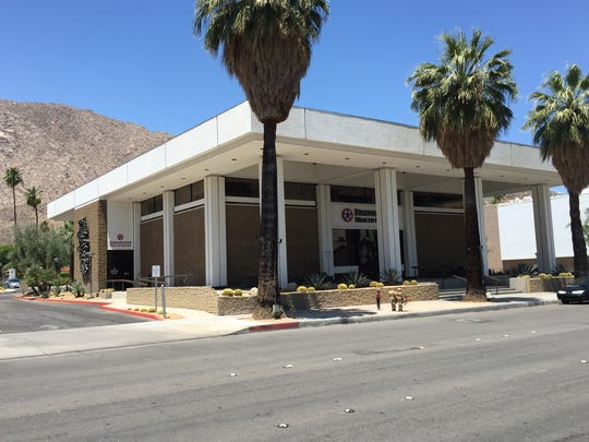 The Donald Wexler-designed downtown Palm Springs office building at 415 S. Palm Canyon Drive used to be a bank and is now being used as a medical office by Eisenhower Medical Center.