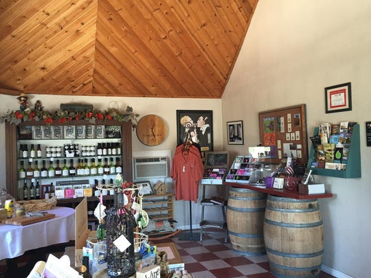 The tasting room at Penman Springs Vineyards in Paso Robles is small and cozy.