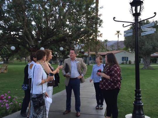 Meeting planners meet with Jeffrey Scott, center, executive meeting planner for La Quinta Resort & Club, during a site visit this week.