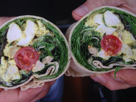 This Curry in a Hurry wrap is a popular specialty item at Organically Twisted Food Truck, which sets up at farmers markets throughout Naples.