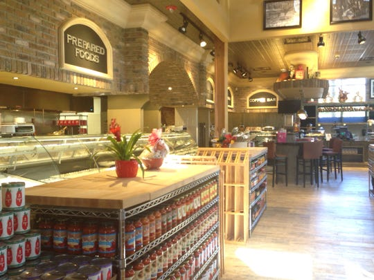 A view of the market at DeRomo's Gourmet Market and Restaurant opening soon at The Promenade in Bonita Springs.