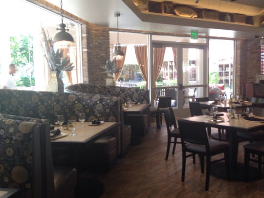 A view of the dining room at the restaurant of DeRomo's Gourmet Market and Restaurant opening at The Promenade in Bonita Springs.