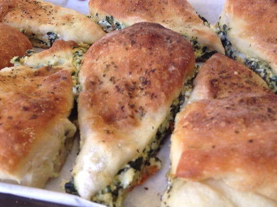 Florentine pockets are one of the savory pastries available at New England Bakery & Cafe in south Fort Myers.