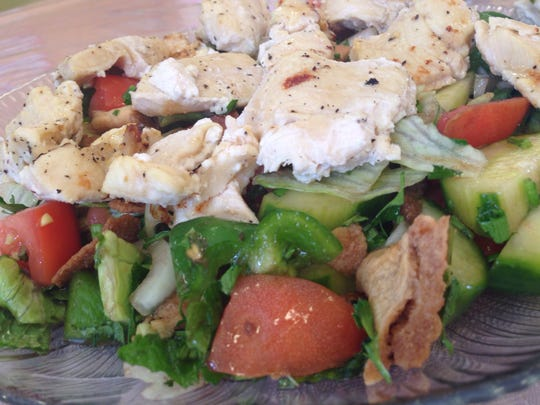 Cedar Café has added new menu items, including fattouche, a salad of romaine lettuce, tomato, cucumber, bell pepper, mint and parsley tossed in lemon juice, olive oil and pomegranate.